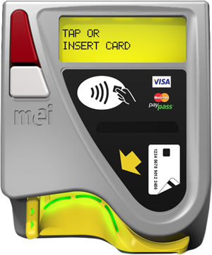 MEI 4-in-1 kiosk EMV chip and contactless readers