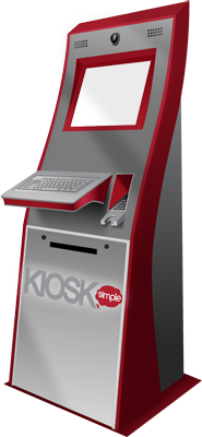 Kiosk software running on a kiosk