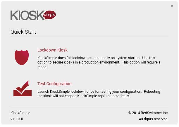 KioskSimple Test Mode Library Catalog Kiosk