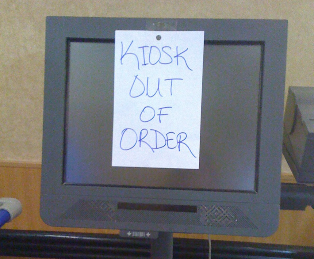 kiosk out of order
