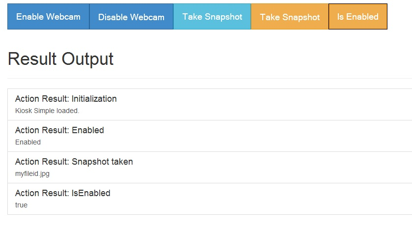 Webcam JavaScript Example App