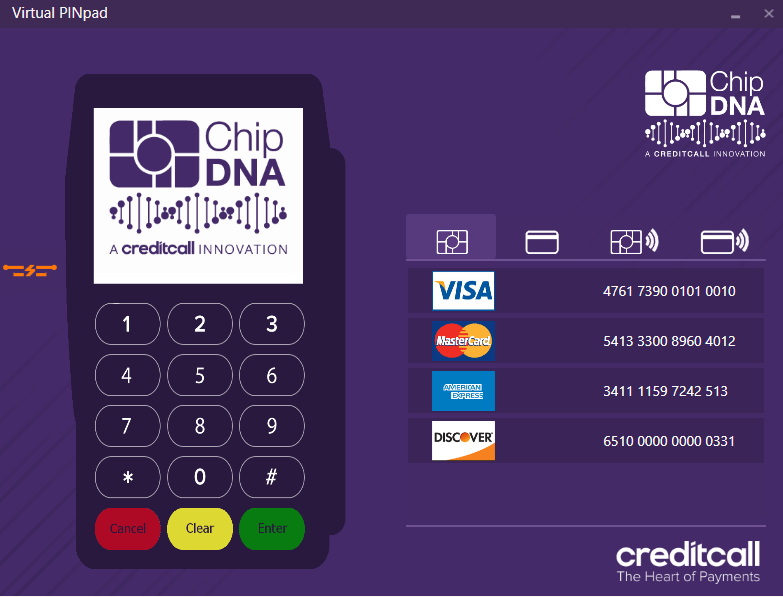 Creditcall EMV Virtual Terminal