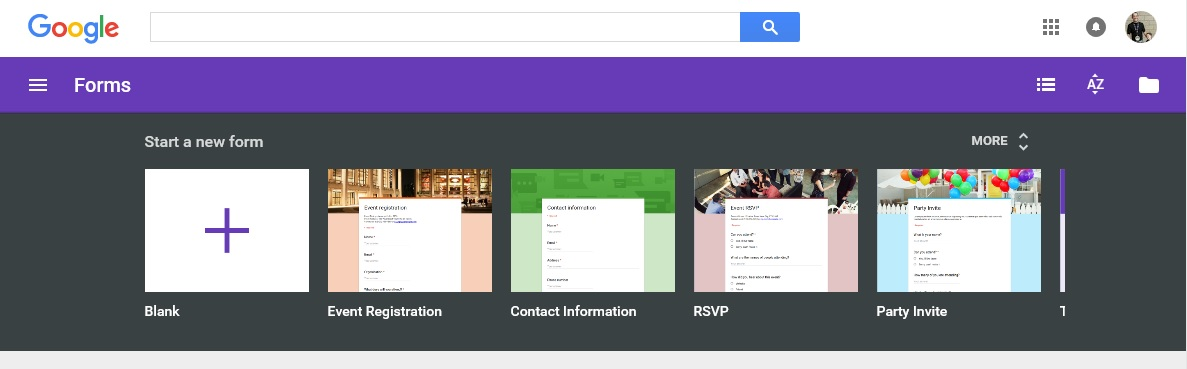 Google Forms Survey Kiosk