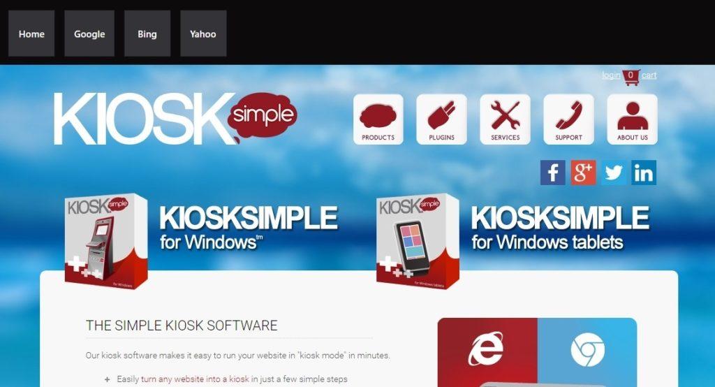 KioskSimple With Menu