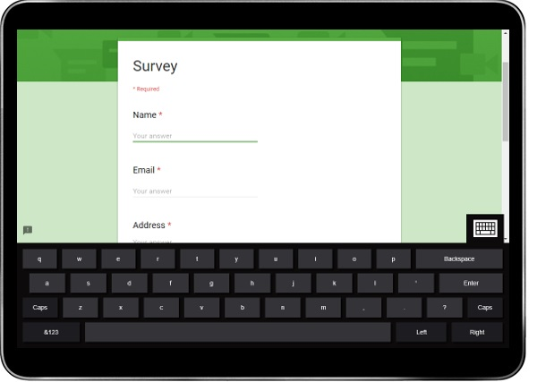 Google Forms Kiosk Mode Survey