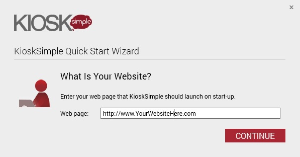 Customer Survey Kiosk Quick Start Wizard