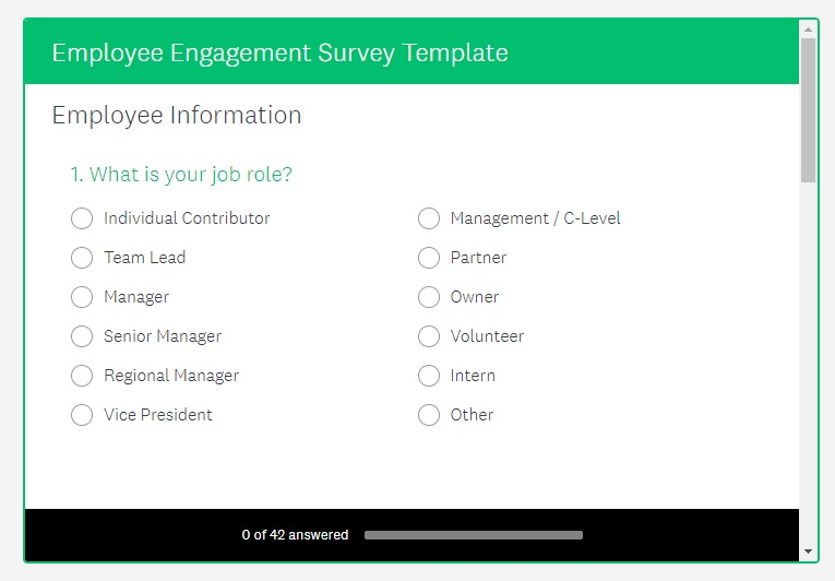 SurveyMonkey Employee Engagement Survey Kiosk SurveyMonkey Example Employee  Engagement Survey Template