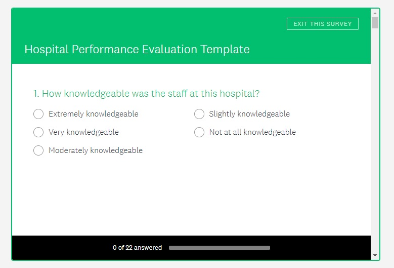SurveyMonkey Healthcare Survey Example Template