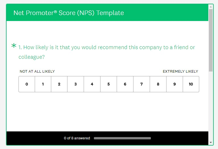 How to create a net promoter score survey kiosk nps for Net promoter score survey template