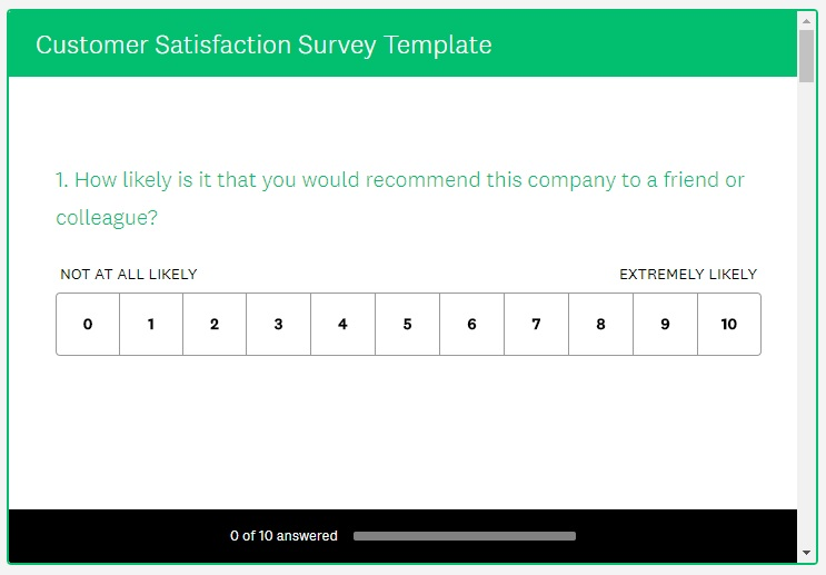 SurveyMonkey Customer Survey Kiosk