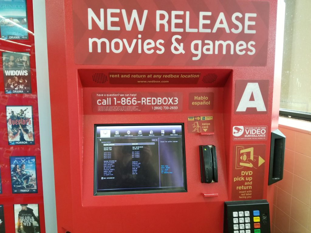 Out of order Redbox kiosk